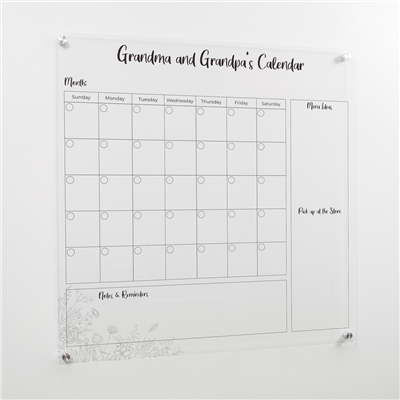 "Large Square Calendar | 31"" x 31"" 