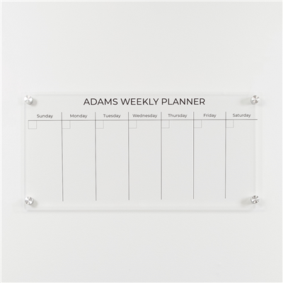 "Week Only Small | 23"" x 11"" 